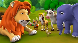 Jungle ka Raja Sher 3D Animated Hindi Moral Stories for Kids जंगल का राजा शेर कहानी Tales Lion King