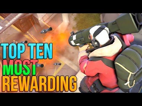 TF2: Top Ten Most Rewarding Weapons! (2016)