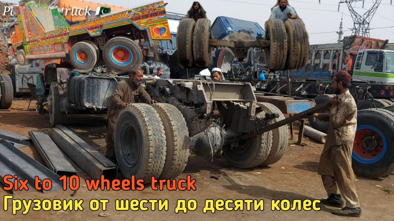 six to 10 wheels truck converting with amazing technique