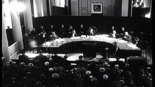 Hanns Albin Rauter is tried for Nazi war crimes in the Hague, Netherlands. HD Stock Footage