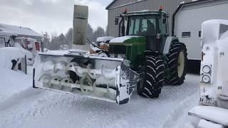 Snow storm Jan 2019 John Deere 7800 with front mount blower
