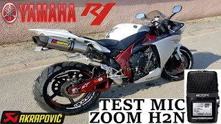 TEST ZOOM H2N R1 CROSSPLANE AKRAPOVIC EXHAUST SOUND (use headset)