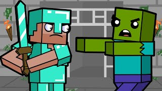 Exploring The Stronghold | Block Squad (Minecraft Animation)