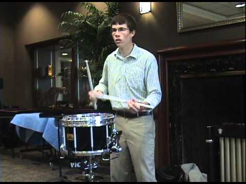John Schwerdt 2009 Missouri Solo Contest And The Kitchen SInk Snare Solo