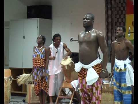African percussion music and dance from Ghana: Adjagbeko fast