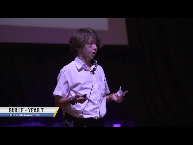 Hard Work Always Wins by Guille| Year 7 at TEDxSunmarke