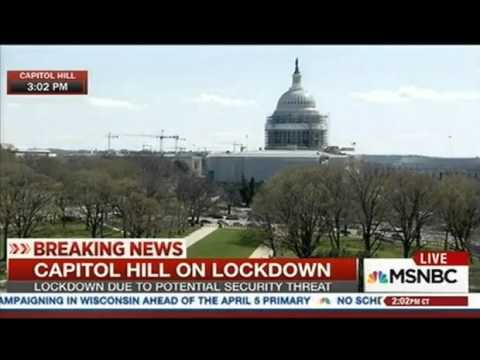 Capitol HIll, White House on Lock Down, Shots fired