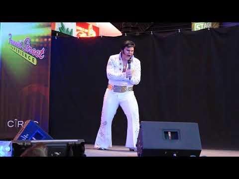 MVI 8423 Las Vegas Old Town Fremont Street Experience - Elvis impersonator
