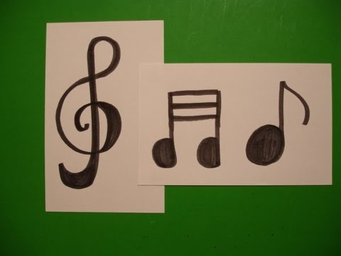 Let's Draw a Treble Clef & Music Notes!