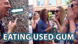 GROSS!!! EATING USED GUM PRANK TRICK!!