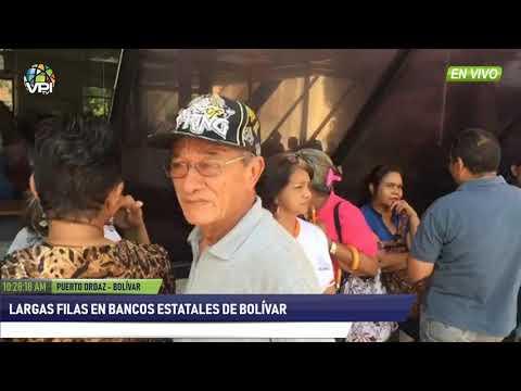 Venezuela- Largas filas en bancos estatales de Bolívar- VPItv
