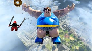 LEGO Marvels Super Heroes The Blob Skydiving PC 4k Ultra HD 2160p