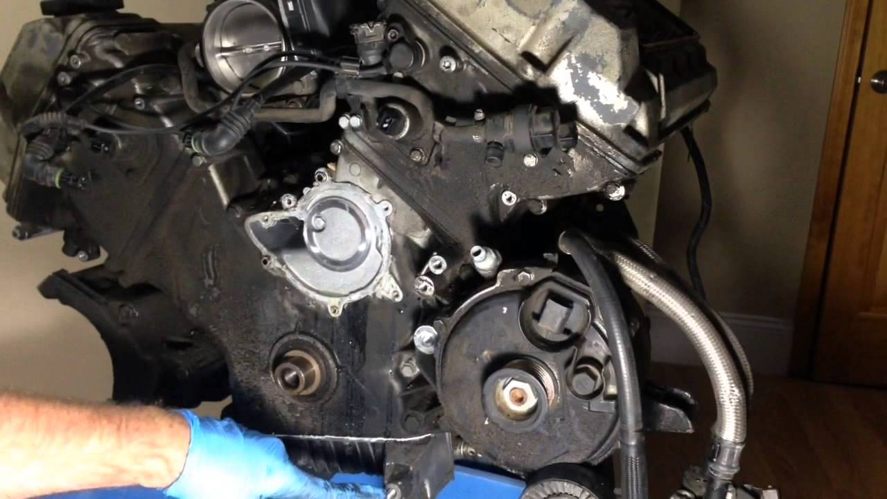 part 1 of 2 bmw m62 m62tu timing chain guide replacement and rh youtube com m62 timing chain guide rail replacement m62 timing chain tensioner replacement