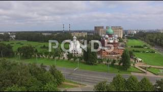 Aerial Shot Of Church Fly Drone View Russia