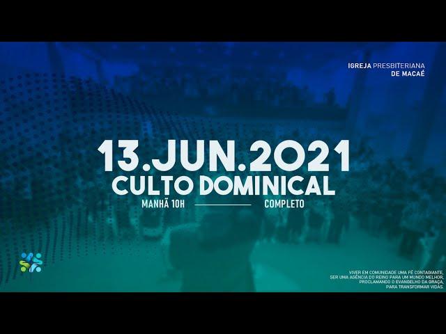 ESCOLA BÍBLICA DOMINICAL  - 13/06/2021