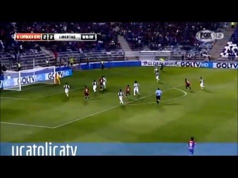 Diego Rojas UC contra Libertad de Paraguay - Sudamericana 2015