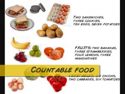 Food Countable Or Uncountable List