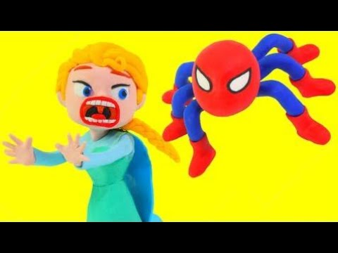 Spiderman Becomes a Spider 💗 Frozen Elsa & Superhero Funny Pranks Stop Motion Movies
