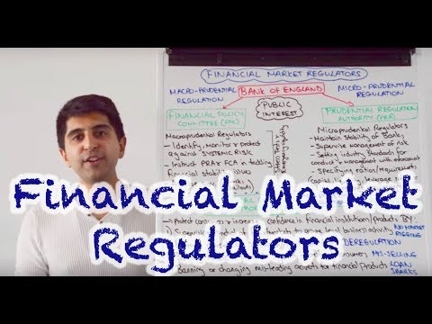 Regulators of Financial Markets - FPC, PRA & FCA