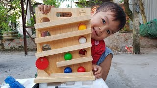 Baby Learning Play with Wooden Toy and Balls Colors ❤ ChiChi ToysReview TV ❤ Toys For Kids