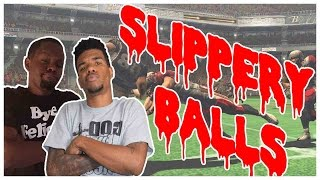 slippery balls what the heck nfl blitz the league 2 gameplay  throwbackthursday ft juice