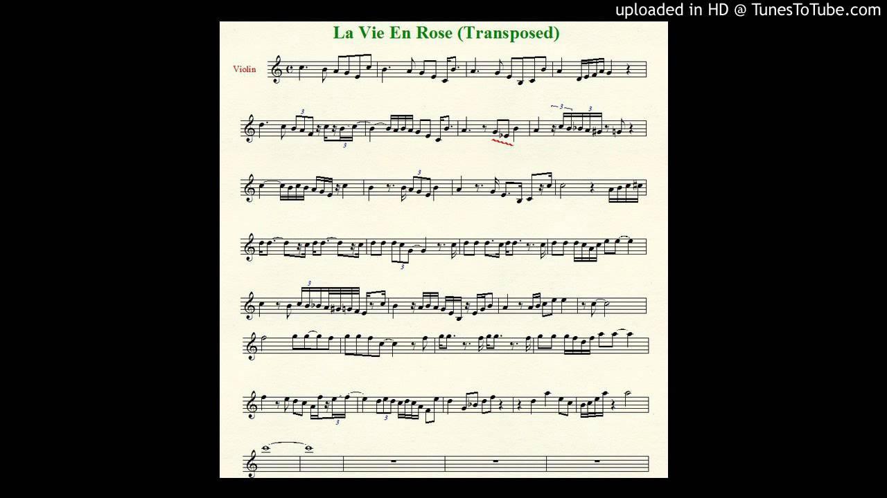 La Vie En Rose Violin Cover Sheet Music In Description Youtube