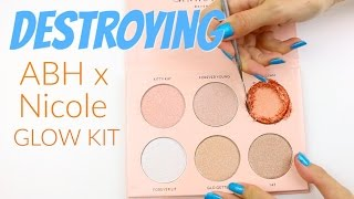 THE MAKEUP BREAKUP - Destroying, weighing & re-pressing the Anastasia Beverly Hills Nicole Glow Kit