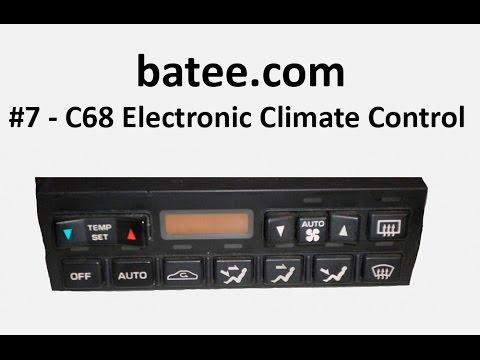 90-96 Corvette #7 - C68 Electronic Climate Control Repair AC