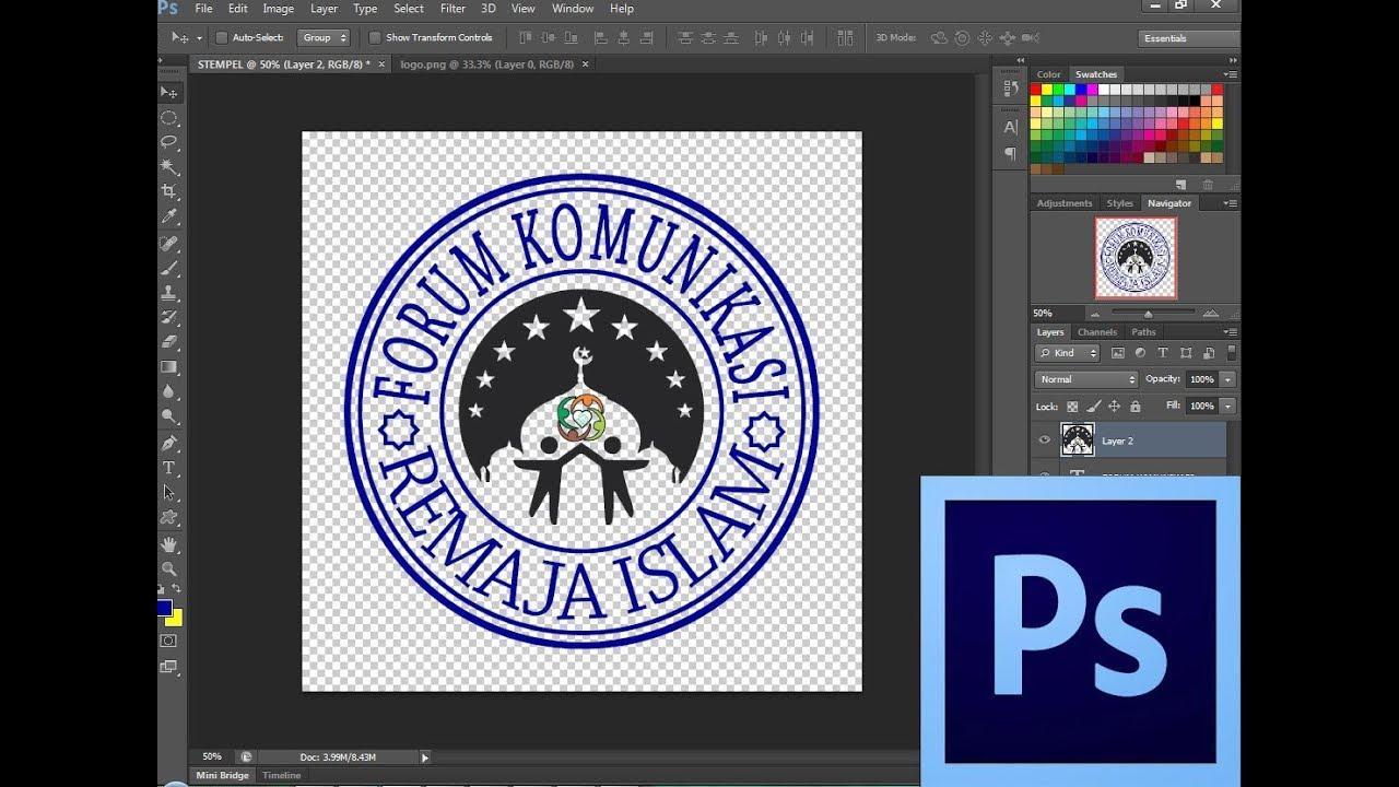 cara membuat desain stempel di photoshop cs6