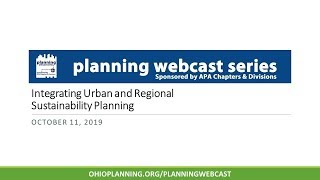 Integrating Urban and Regional Sustainability Planning