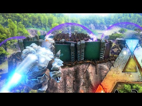 ARK Survival Evolved - MASSIVE TEK TIER ALPHA TRIBE BASE RAIDED BY EPIC ARMY - PVP Raiding Gameplay