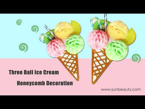 Sunbeauty DIY Paper Craft Honeycomb Ice Cream