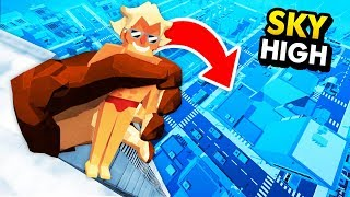 Virtual Reality GORILLA Throws People Off SKY HIGH BUILDING (Funny GrowRilla VR Gameplay)