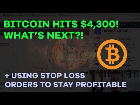 BTC Hits $4,300 - What's Next? Using Stop/Loss On Bittrex, DNT Profits, BCash Isn't Dead - CMTV Ep24
