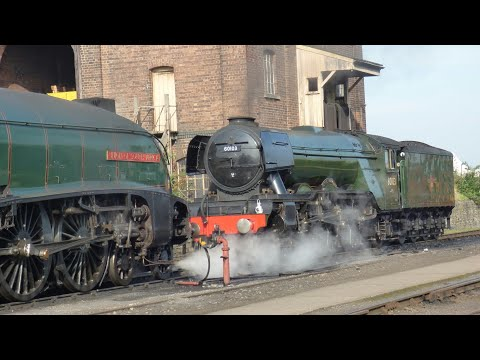 'Flying Scotsman' and 'Union of South Africa' at Didcot Railway Centre