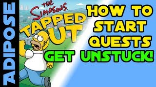Simpsons Tapped Out-How to get Quests to start