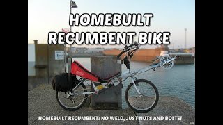 no weld recumbent bike, build diary