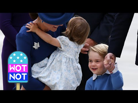 William speaks French & Kate cheers up Prince George : THE ROYALS ARRIVE IN CANADA