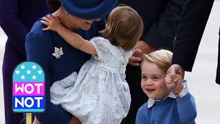 William speaks French & Kate cheers up Prince George : THE ROYALS ARRIVE IN CANADA thumbnail