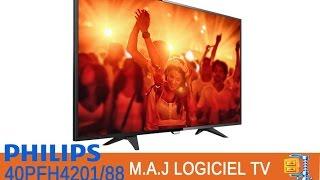 Comment mettre à jour le logiciel du téléviseur Led Full HD DVB-T/C Philips 4200 Series 40PFH4201/88
