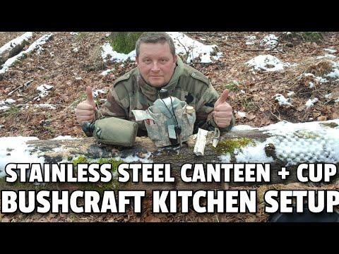 ✔ SS CANTEEN + CUP ☆ Bushcraft Kitchen Setup ☆ German