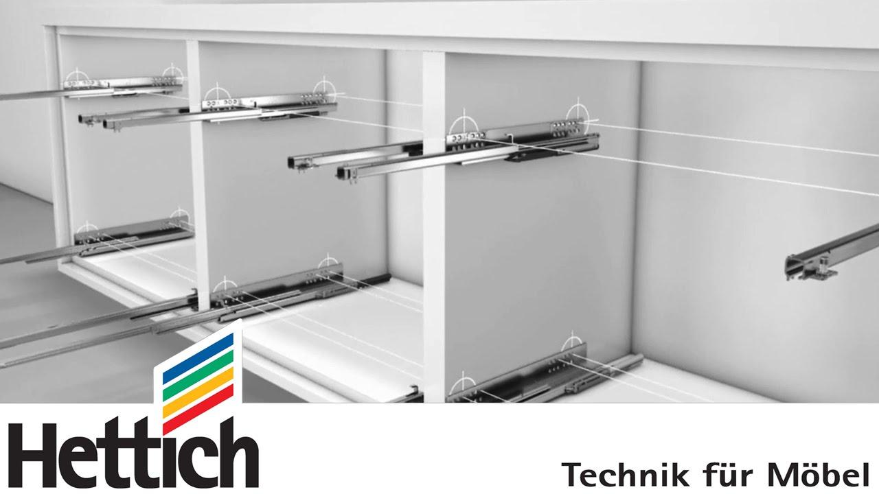 coulisses quadro pour les tiroirs en bois de hettich. Black Bedroom Furniture Sets. Home Design Ideas