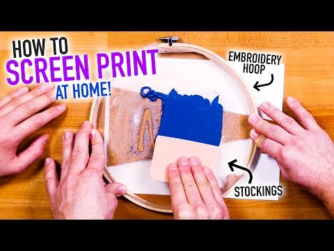 How to Screen Print at Home for Cheap ~ Easy DIY Silk Screen Hack - HGTV Handmade