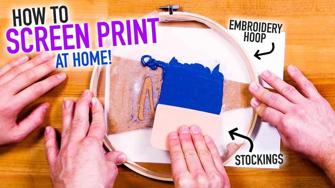 How To Screen Print At Home For Cheap Easy Diy Silk Screen Hack