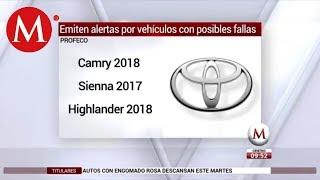 Profeco emite alerta por fallas en vehículos de VW y Totoya