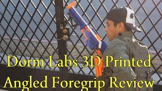 Dorm Labs Angled Foregrip Review (Nerf 3D Printed Accessory) (Game Tested)