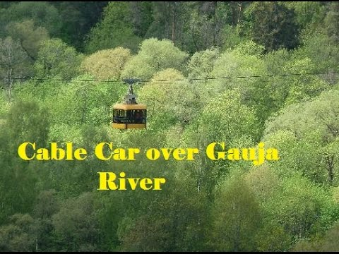 Cable Car over Gauja River.Latvia Sigulda