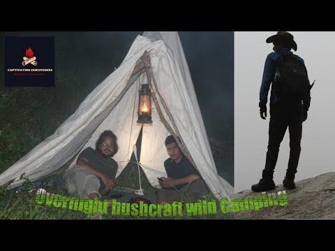Overnight bushcraft wild camping   wild camping in heavy rain   campfire cooking   Bushcraft camping