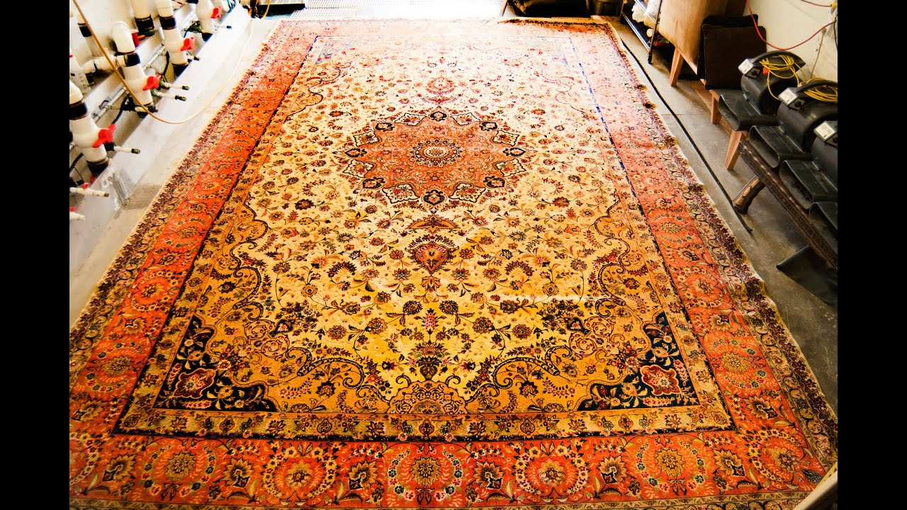 How we clean Oriental rug - YouTube