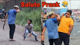 Salute Prank with funny reaction | Prank in India | Shubham Sharma